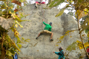 Rock climbing in purulia