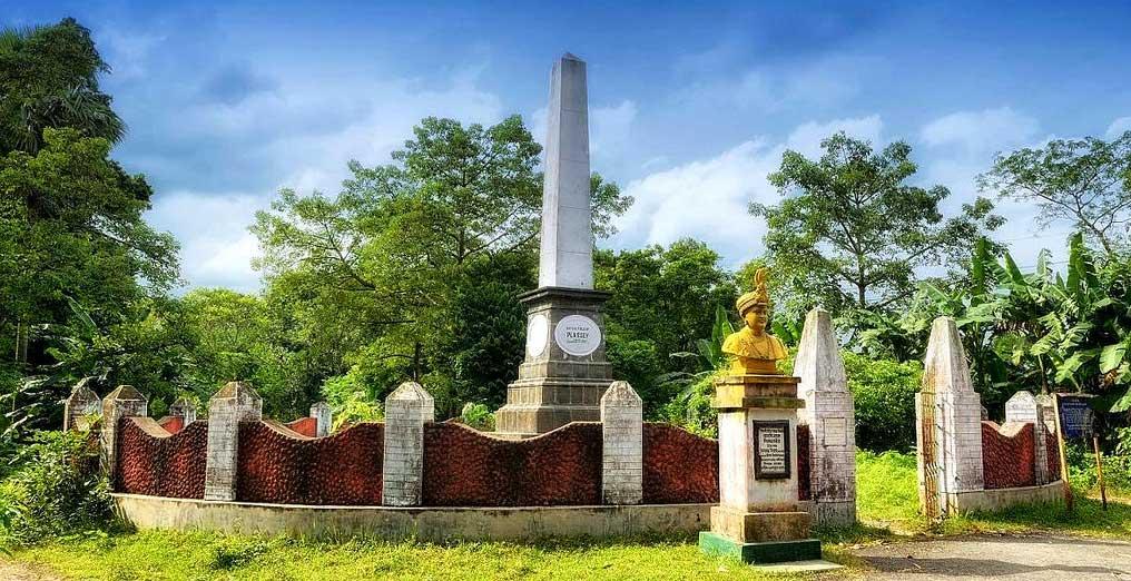 War Memorial at the Battle of Plassey Ground, Murshidabad