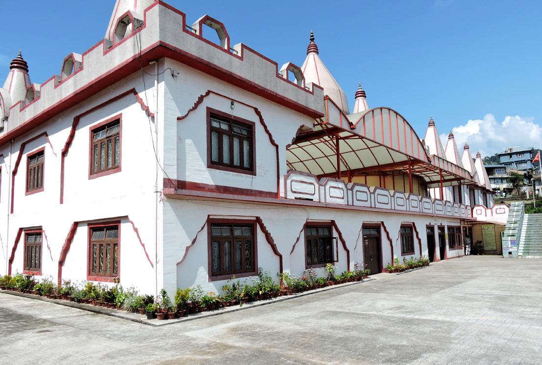 Mangal Dham building in Kalimpong