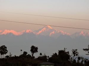 Majestic Kanchenjunga sunrise at Rishop