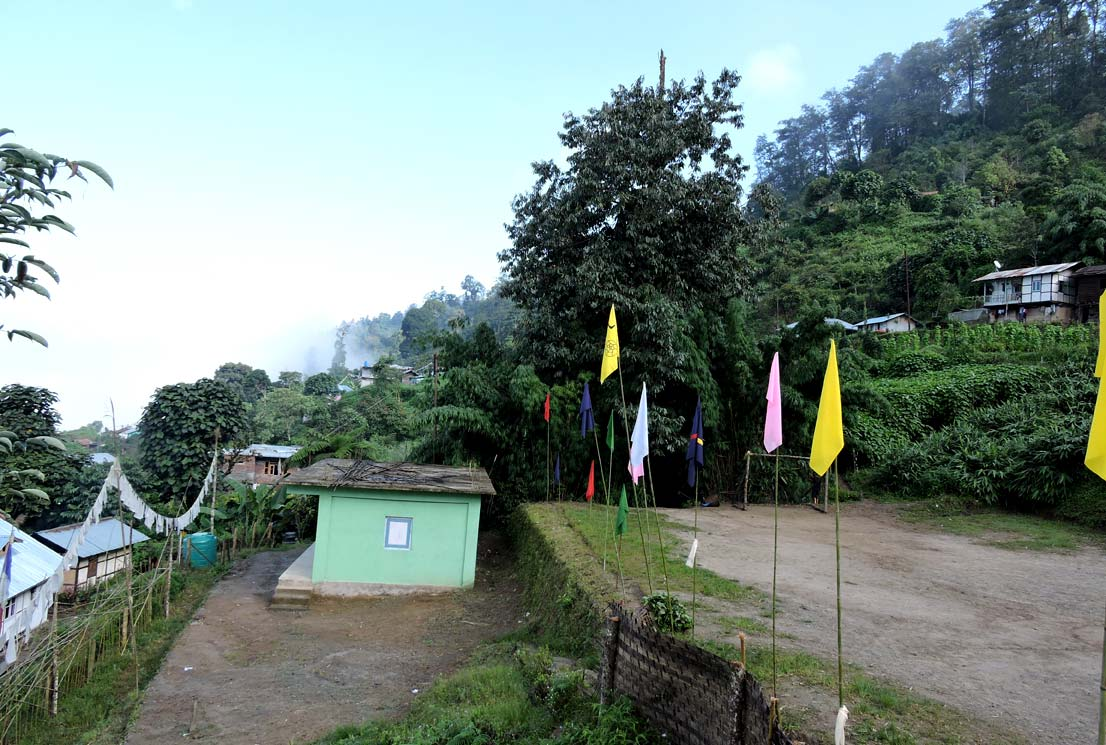 Echhey forest village side view